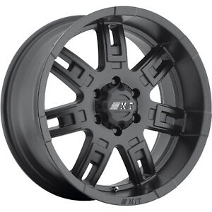 17x9 Black Mickey Thompson Sidebiter Ii 6x5 5 0 Rims Lt285 70r17 Tires