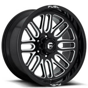 Qty4 20x9 Fuel Wheels D662 Ignite Gloss Black And Milled Off Road Rims Ca