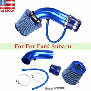 75mm 3 Short Blue Cold Air Intake Pipe Kit Cold Air Filter For Ford Subaru Us