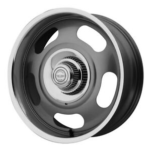 1 New 17x8 American Racing Vn506 Mag Gray W Polished Lip Wheel Rim 5x120 65 Et0