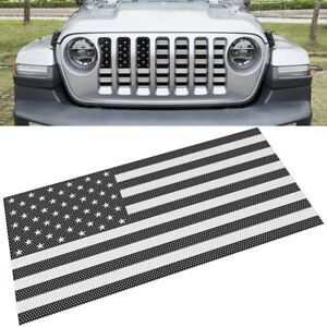 Front Grille Mesh Insert Grill Hood Off Road Accessory Trim For Jeep Wrangler Jl
