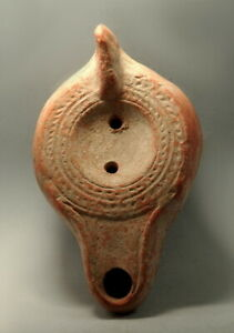 Roman North African Terracotta Decorated Oil Lamp M307