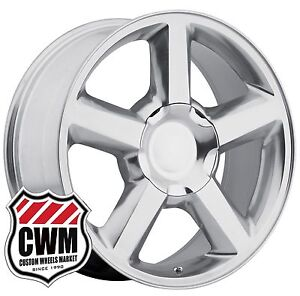Oe Replica 131p 20 Inch Chevy Tahoe Ltz Wheels Polished Aluminum Rims 6x5 50