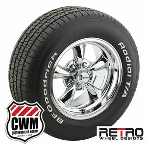 15 Inch 15x8 Polished Wheels Rims Bfg Tires 235 60r15 For Plymouth Cars 1954 78
