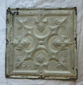 1890 S 12 X 12 Antique Tin Ceiling Tile Taupe Metal Reclaimed 62 19