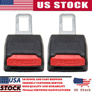 2pcs Universal Car Safety Seat Belt Buckle Extension Extender Clip Alarm Stopper