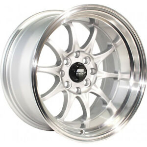 15x8 Silver Mst Mt11 Wheels 4x100 4x4 5 0 Fits Ford Mustang 4 Lug Only