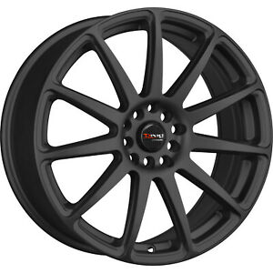 15x7 5 Black Drag Dr66 Wheels 4x100 4x4 5 10 Fits Ford Mustang 4 Lug Only