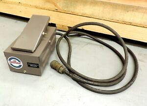 Vtg Miller Heliarc Rfc 50a Foot Pedal Switch Control 14 Pin Cable Welder Welding