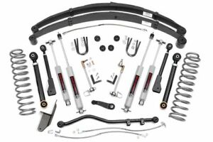 Rough Country 4 5 Lift Kit Fits 1984 2001 Jeep Cherokee Xj 4wd X Series