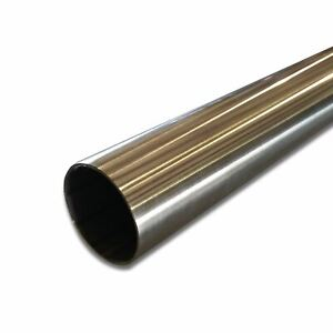 304 Stainless Steel Round Tube 2 Od X 0 065 Wall X 48 Long Polished