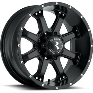16 Inch Black Raceline Assault 991 Wheels Rims Jeep Wrangler Cherokee 5x4 5 16