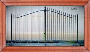 Driveway Gate 11 Or 12 Wd Inc Steel Post Package Iron Yard Fence Home Garden
