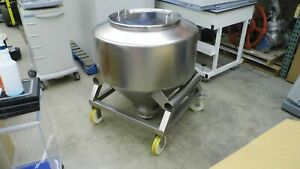 L b Bohle Stainless Steel Approximately 300 Liter Powder Container Bin hopper
