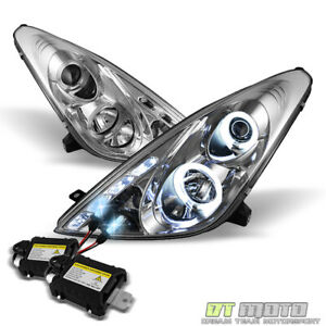 For 8000k Slim Xenon Hid 00 05 Toyota Celica Dual Halo Projector Led Headlights