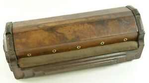 Antique Victorian Edwardian Wooden Sewing Tatting Needlework Box