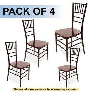 Mahogany Bellaire Chiavari Chair price Is For 4 Chairs