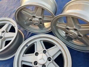 Mercedes W107 116 123 126 280 380 560 Ronal R9 Penta 15x7 Restored Wheels Rims