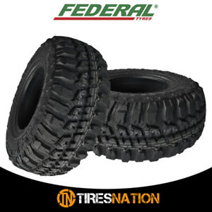 2 Federal Couragia M T 35x12 50r17 125q 10ply Off Road All Terrain Mud Tires