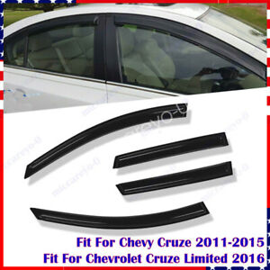 Window Visors Shade Rain Guard Vent Fit For Chevy Cruze 2011 2012 2013 2014 2015