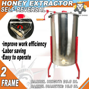 2 4 Frame Stainless Steel Honey Extractor Manual Beekeeping Equipment Bee Hive