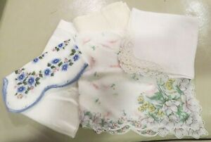Antique Fanciest Lacy Hanky Hankerchief Lot