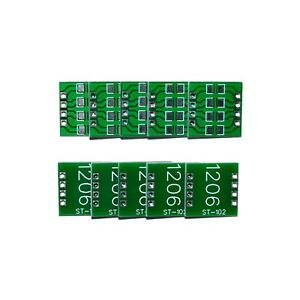 1206 Smd To Dip Breakout Board Pcb Breadboard Adapter 10 Pieces