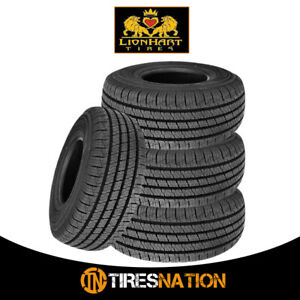 4 New Lionhart Lionclaw Ht P255 70r16 109t All Season Performance Tires