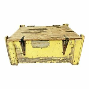 Vintage Industrial Storage Box Metal Tool Heavy Crate Chest Bin Steampunk Trunk