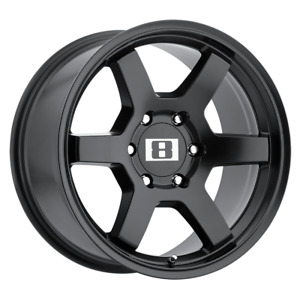 Set 4 17x8 10 6x139 7 6x5 5 Level 8 Mk 6 Black Wheels Rims 17 Inch 16145