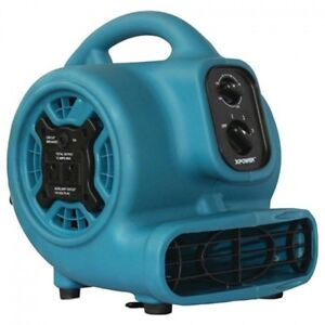800cfm 3 speed Mini Air Mover Floor Dryer Utility Blower Fan Timer Power Outlets