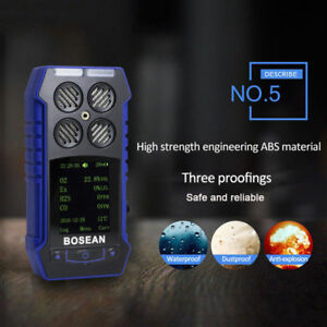4 In 1 Toxic And Harmful Gas Alarm Detector Co O2 H2s Oxygen Analyzer Meter Usa