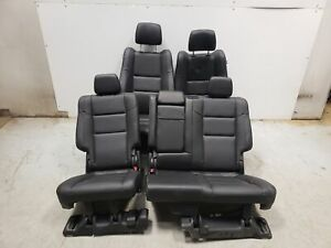 2018 Jeep Grand Cherokee Seats Front Rear Left Right Black Leather Dual Power Oe