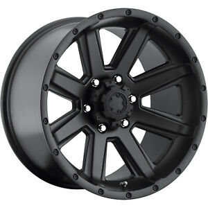 17x8 Satin Black Ultra Crusher 195 Wheels 6x135 25 Lifted Ford Expedition