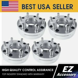 4 Hub Centric Wheel Adapters 5x5 5 To 6x5 5 6 Lug Chevy Rims On Dodge Ram 1500