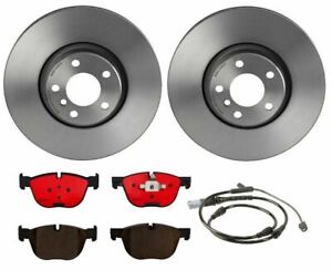 Brembo Front Brake Kit Ceramic Pads Vented Coated Disc Rotors Set For Bmw E70 X5