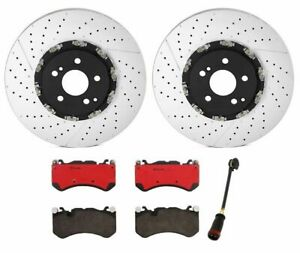 Brembo Front Brake Kit Ceramic Pads Drilled Disc Rotors For Mb W212 Without B07