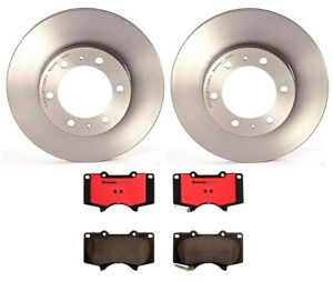 Brembo Front Brake Kit Ceramic Pads Vent 319mm Disc Rotors For Fj Cruiser Tacoma