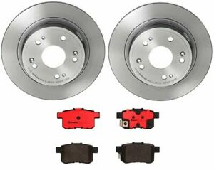 Brembo Rear Brake Kit Ceramic Pads Disc Rotors Pair For Acura Tsx Honda Accord