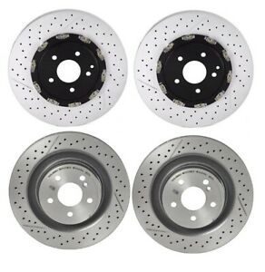 Brembo Front Rear Brake Disc Rotor Kit For Mercedes R171 Slk55 Amg No P30