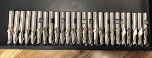 New Lot Of 25 1 2 Diameter High Speed Steel Sharpened End Mills Made In China