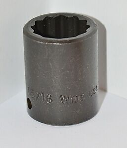 15 16 Inch Williams Usa 1 2 Inch Drive 12 Point Standard Impact Socket
