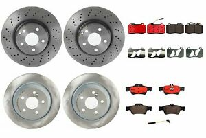 Front Rear Full Brembo Brake Kit Disc Rotors Ceramic Pad For Mb W220 S430 S500