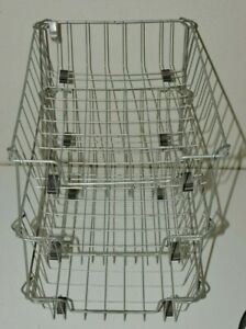 Vintage Mcm Metal Wire 3 Tier Shelf Desktop Office Paper Basket Organizer Rare
