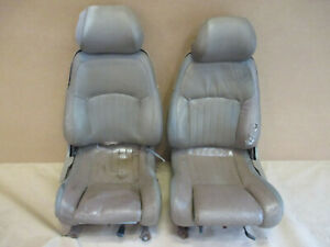 93 95 Firebird Trans Am Tan Leather Seat Seats Front Set 0226 2