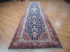 Ca1930s Veg Dye Antique Lilihan Mallayer Sarouk 3 5x16 Estate Sale Rug