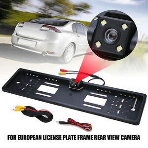European Euro License Plate Holder Frame With Car Rear View Camera Night Vision