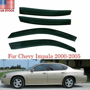 Fit Chevy Impala 2000 2001 2002 2003 2004 2005 Smoke Window Visors Rain Guards