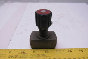 Hycon Dv10 1 1 5v Metered Hydraulic Flow Control Needle Valve 3 8 Npt 350bar