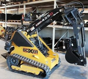 Backhoe Attachment W swing Digs 5 Fits Boxer Prowler Mini Track Loaders Only